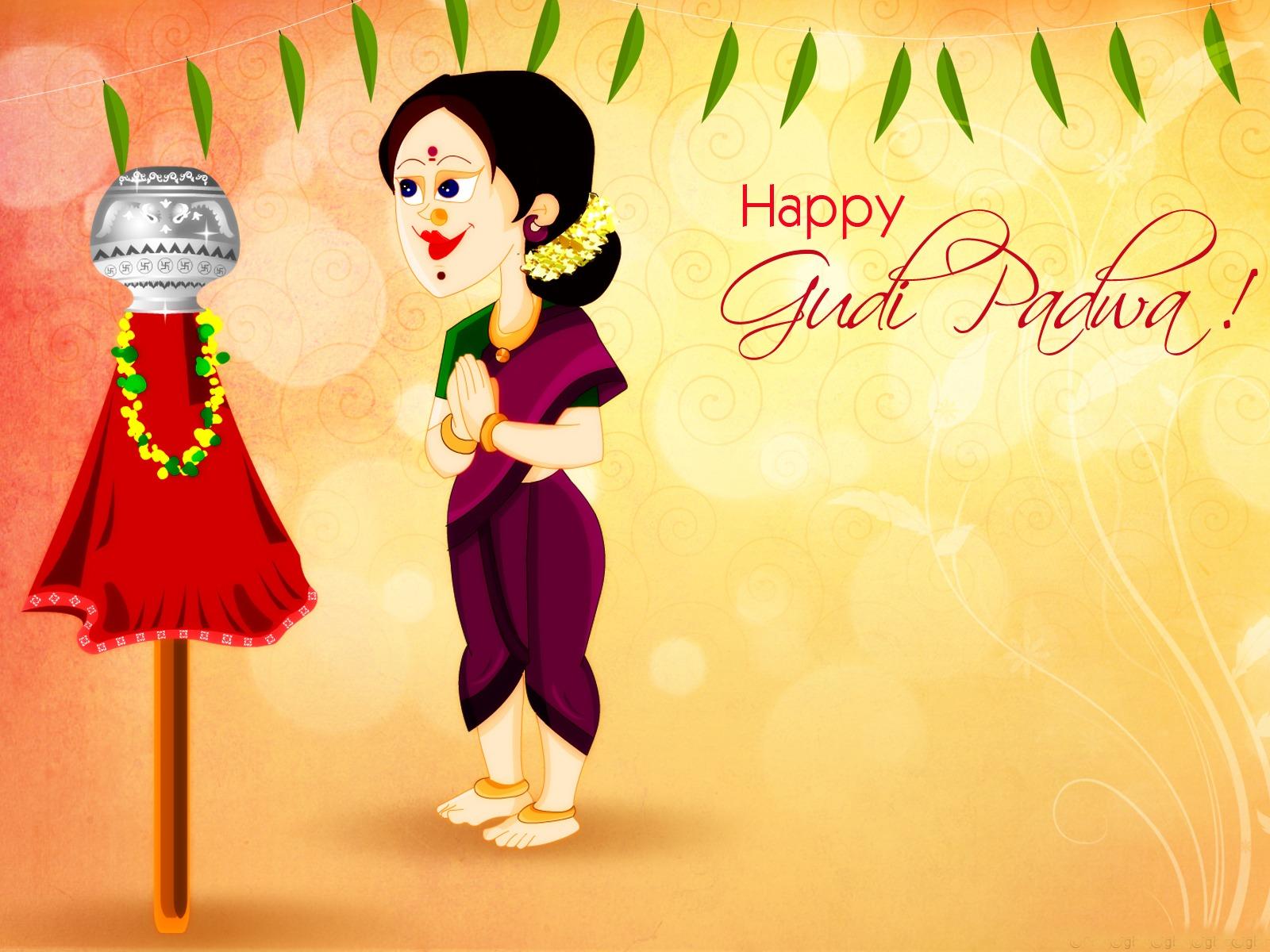 32 Gudi Padwa Captions English & Marathi!